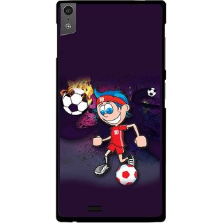 Snooky Printed My Game Mobile Back Cover For Gionee Elife S5.5 - Puple