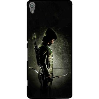 Snooky Printed Hunting Man Mobile Back Cover For Sony Xperia XA1 - Black