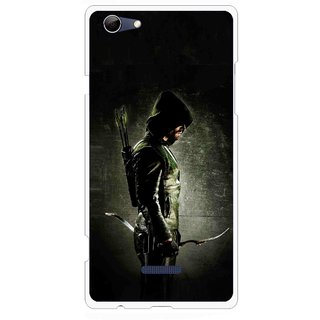 Snooky Printed Hunting Man Mobile Back Cover For Micromax Canvas Selfie 3 Q348 - Black
