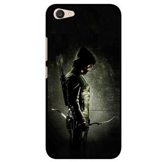 Snooky Printed Hunting Man Mobile Back Cover For Vivo V5 Plus - Black