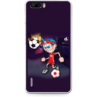 Snooky Printed My Game Mobile Back Cover For Huawei Honor 6 Plus - Puple