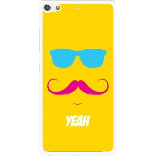 Snooky Printed Yeah Mobile Back Cover For Gionee Elife S7 - Yellow