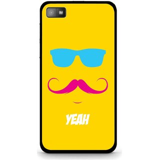 Snooky Printed Yeah Mobile Back Cover For Blackberry Z10 - Yellow