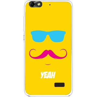 Snooky Printed Yeah Mobile Back Cover For Huawei Honor 4C - Yellow