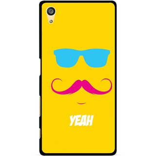 Snooky Printed Yeah Mobile Back Cover For Sony Xperia Z5 Plus - Yellow