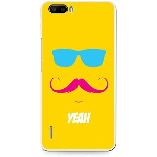 Snooky Printed Yeah Mobile Back Cover For Huawei Honor 6 Plus - Yellow
