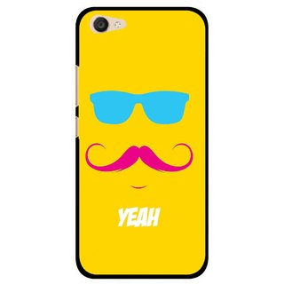 Snooky Printed Yeah Mobile Back Cover For Vivo V5 Plus - Yellow