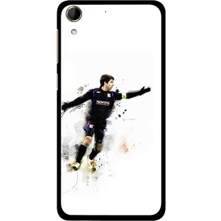 Snooky Printed Pass Me Mobile Back Cover For HTC Desire 728 - White