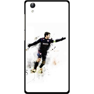 Snooky Printed Pass Me Mobile Back Cover For Vivo Y51L - White