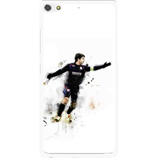 Snooky Printed Pass Me Mobile Back Cover For Gionee Elife S7 - White