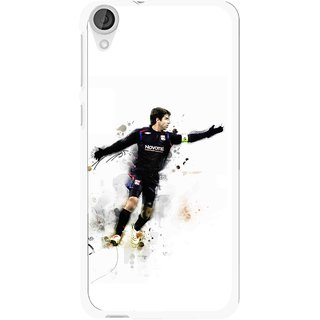 Snooky Printed Pass Me Mobile Back Cover For HTC Desire 820 - White