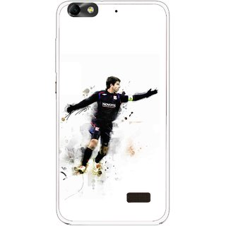Snooky Printed Pass Me Mobile Back Cover For Huawei Honor 4C - White
