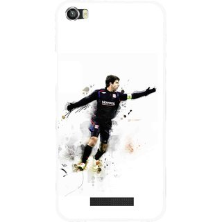 Snooky Printed Pass Me Mobile Back Cover For Lava Iris X8 - White