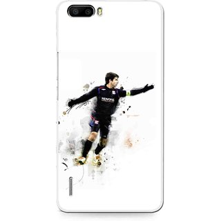 Snooky Printed Pass Me Mobile Back Cover For Huawei Honor 6 Plus - White