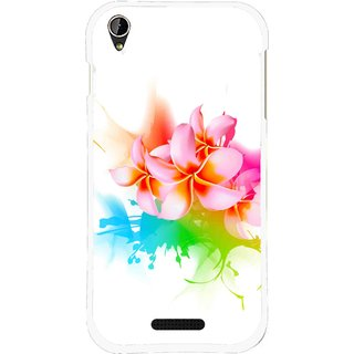 Snooky Printed Colorfull Flowers Mobile Back Cover For Lava X1 Mini - Multi