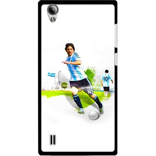 Snooky Printed Football Mania Mobile Back Cover For Vivo Y15 - White