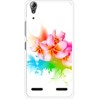Snooky Printed Colorfull Flowers Mobile Back Cover For Lenovo A6000 - Multi