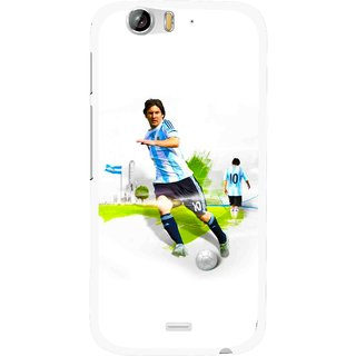Snooky Printed Football Mania Mobile Back Cover For Micromax Canvas Turbo A250 - White