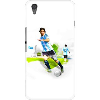 Snooky Printed Football Mania Mobile Back Cover For One Plus X - White