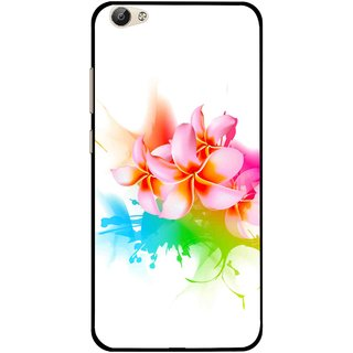 Snooky Printed Colorfull Flowers Mobile Back Cover For Vivo Y55 - Multi