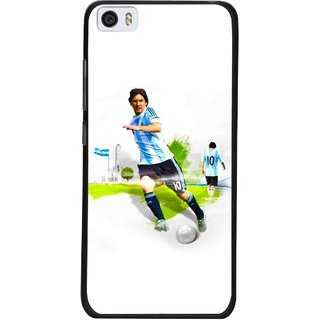 Snooky Printed Football Mania Mobile Back Cover For Xiaomi Mi5 - White