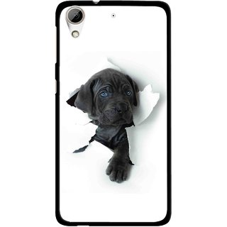 Snooky Printed Cute Dog Mobile Back Cover For HTC Desire 626 - White