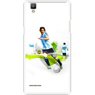 Snooky Printed Football Mania Mobile Back Cover For Oppo F1 - White