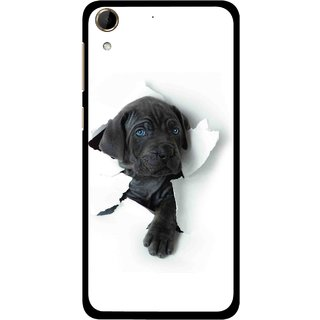 Snooky Printed Cute Dog Mobile Back Cover For HTC Desire 728 - White