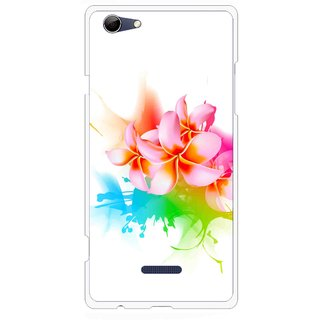Snooky Printed Colorfull Flowers Mobile Back Cover For Micromax Canvas Selfie 3 Q348 - Multi