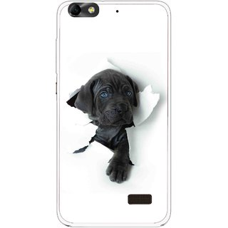 Snooky Printed Cute Dog Mobile Back Cover For Huawei Honor 4C - White