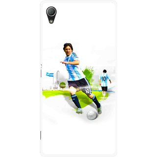 Snooky Printed Football Mania Mobile Back Cover For Sony Xperia Z3 - White