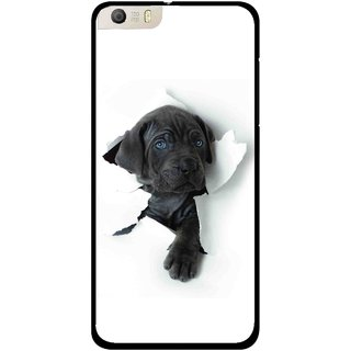 Snooky Printed Cute Dog Mobile Back Cover For Micromax Canvas Knight 2 E471 - White