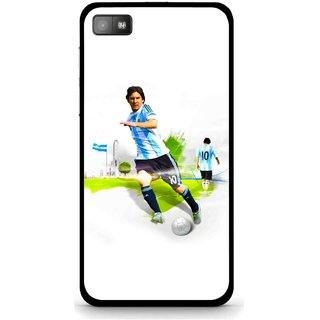 Snooky Printed Football Mania Mobile Back Cover For Blackberry Z10 - White