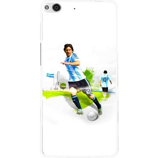 Snooky Printed Football Mania Mobile Back Cover For Gionee Elife E6 - White