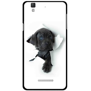 Snooky Printed Cute Dog Mobile Back Cover For Micromax Yu Yureka Plus - White
