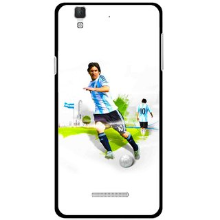 Snooky Printed Football Mania Mobile Back Cover For Coolpad Dazen F2 - White