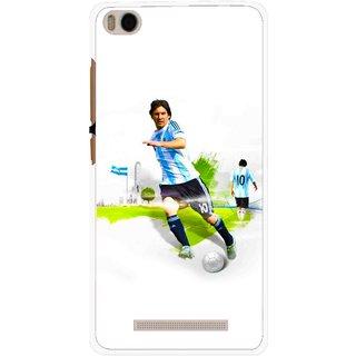 Snooky Printed Football Mania Mobile Back Cover For Xiaomi Redmi Mi4i - White