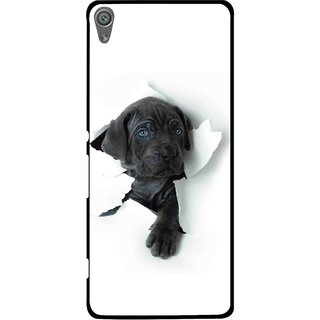 Snooky Printed Cute Dog Mobile Back Cover For Sony Xperia XA1 - White