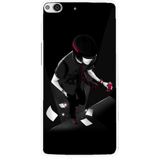 Snooky Printed Hep Boy Mobile Back Cover For Gionee Elife E6 - Black