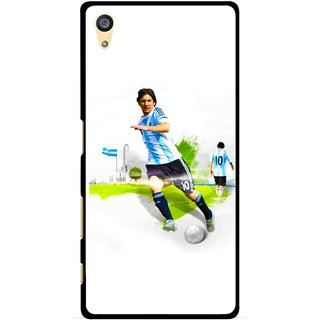 Snooky Printed Football Mania Mobile Back Cover For Sony Xperia Z5 Plus - White