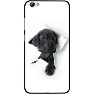 Snooky Printed Cute Dog Mobile Back Cover For Vivo Y55 - White