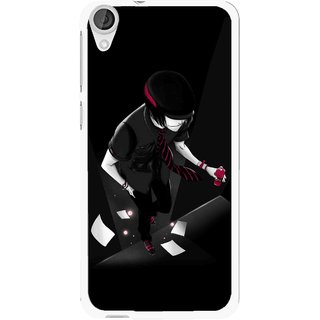 Snooky Printed Hep Boy Mobile Back Cover For HTC Desire 820 - Black