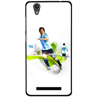 Snooky Printed Football Mania Mobile Back Cover For Gionee F103 - White