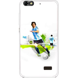 Snooky Printed Football Mania Mobile Back Cover For Huawei Honor 4C - White