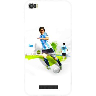 Snooky Printed Football Mania Mobile Back Cover For Lava Iris X8 - White