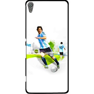 Snooky Printed Football Mania Mobile Back Cover For Sony Xperia XA1 - White