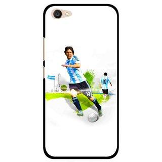 Snooky Printed Football Mania Mobile Back Cover For Vivo V5 Plus - White