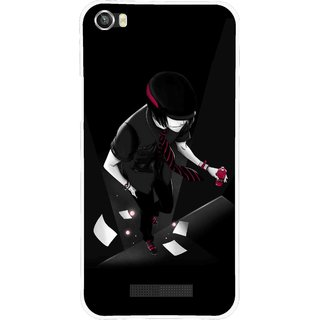 Snooky Printed Hep Boy Mobile Back Cover For Lava Iris X8 - Black