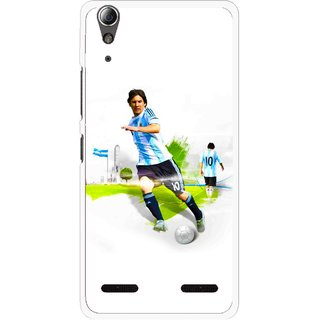 Snooky Printed Football Mania Mobile Back Cover For Lenovo A6000 - White