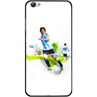 Snooky Printed Football Mania Mobile Back Cover For Vivo Y55 - White